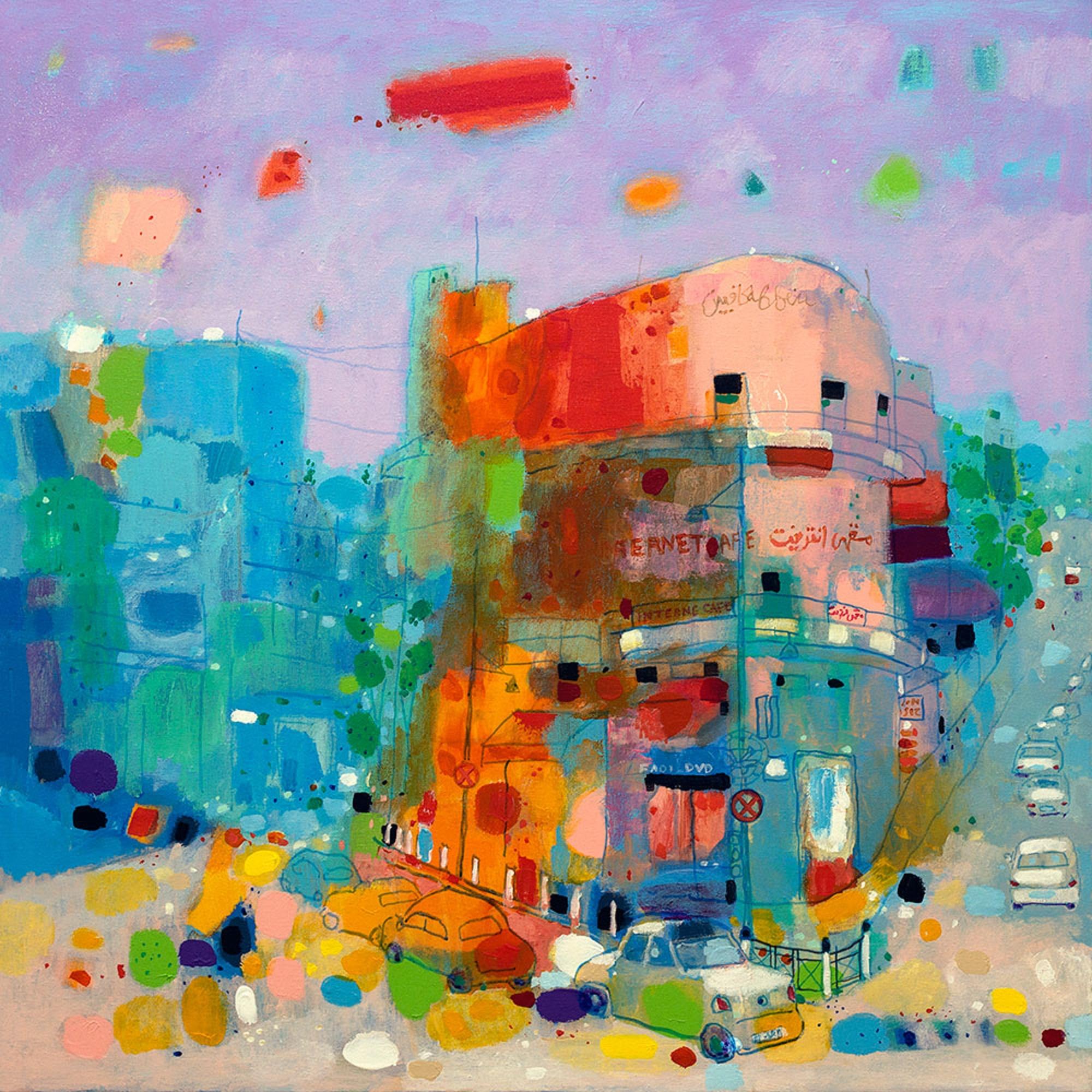 (عمل للفنان العراقي هاشم حنون، من المعرض)