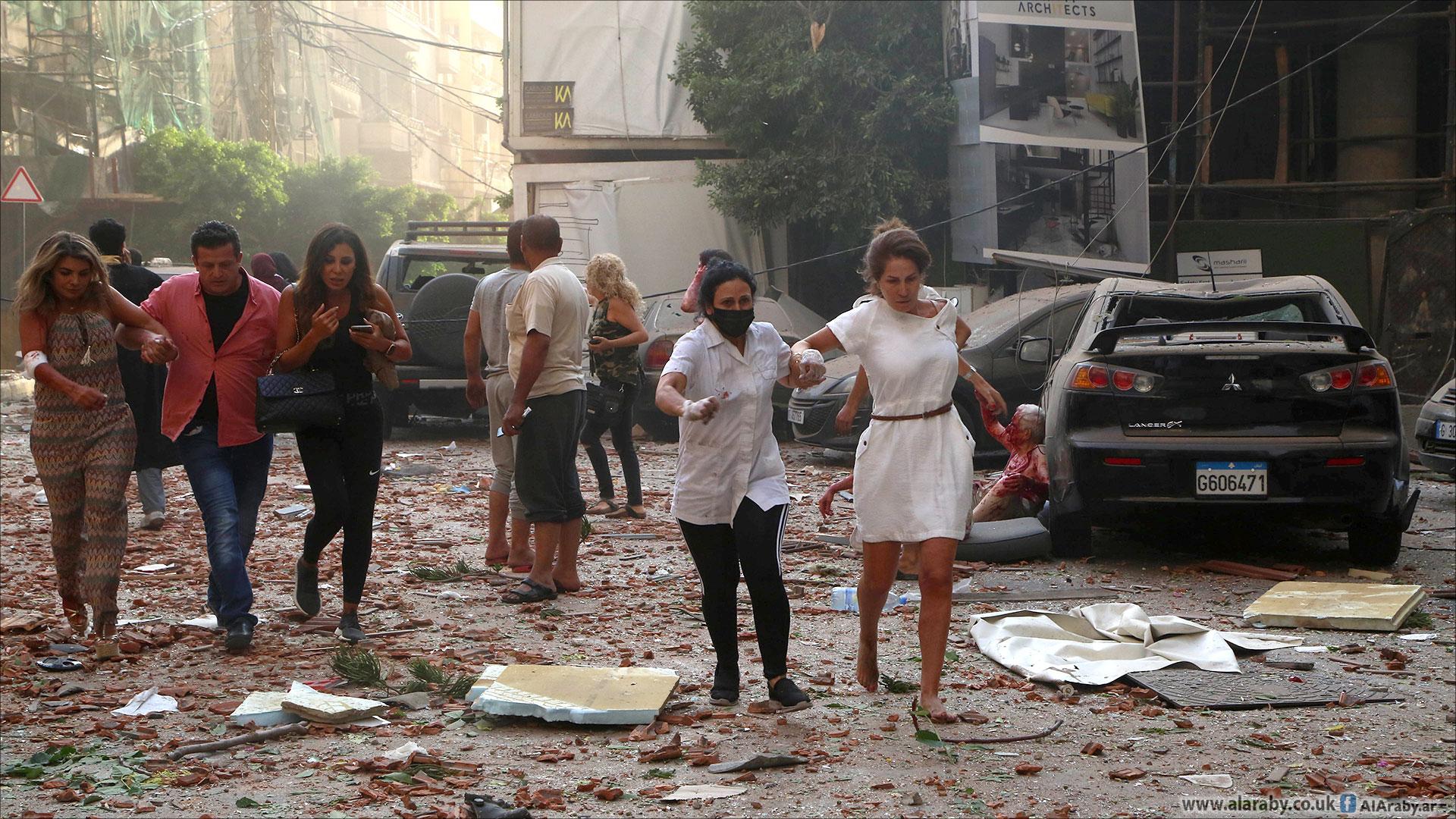 بيروت تستفيق على فاجعة المرفأ: عشرات القتلى وآلاف الجرحى ودمار واسع
