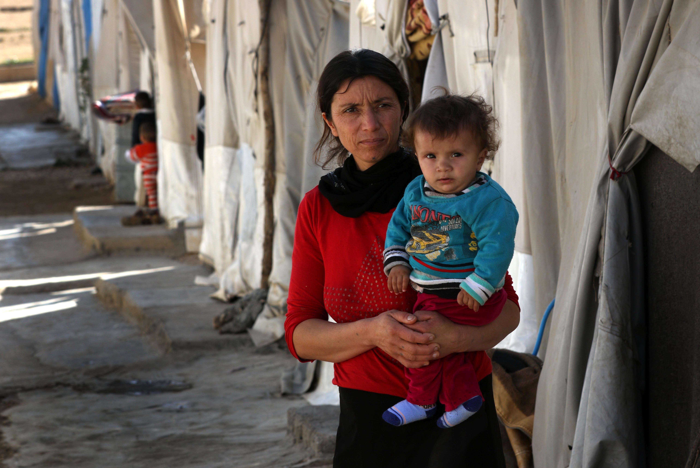 في مخيّم الأيزيديين بدهوك (صفين حميد/ فرانس برس)