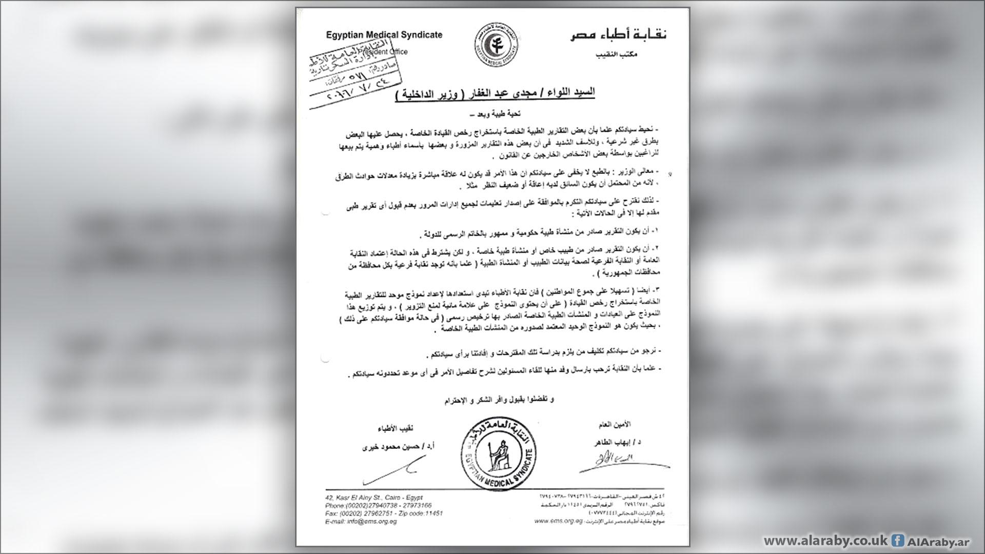 مافيات الإسكندرية تقارير طبي ة مزو رة عند الطلب