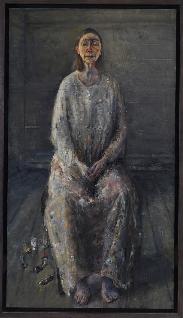 لوحة للفنانة الهندية البريطانية سيليا بول، من المعرض