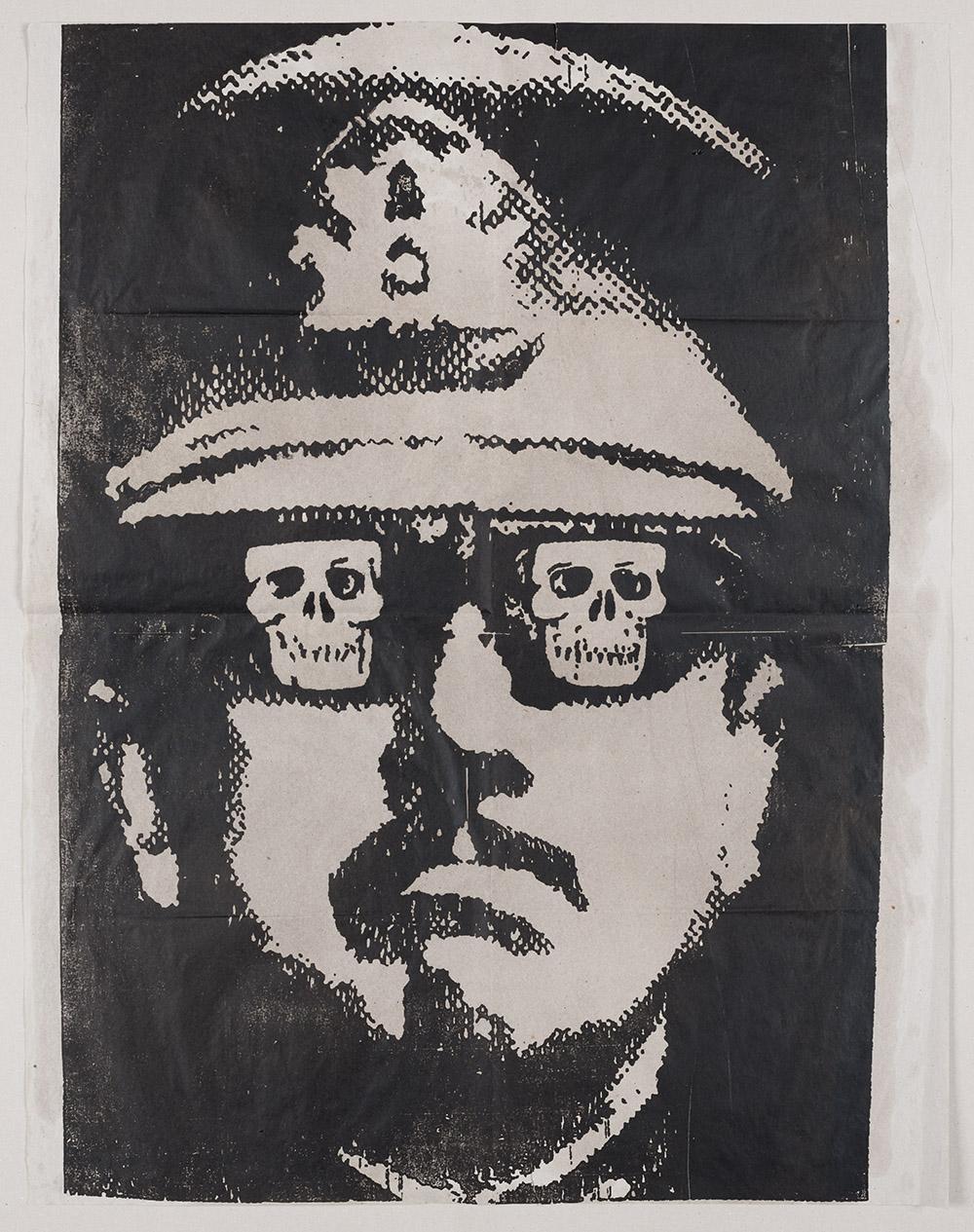"""""""بيونوشيه""""، عمل لـ فرناندو بيدويا، 1987 (من المعرض)"""