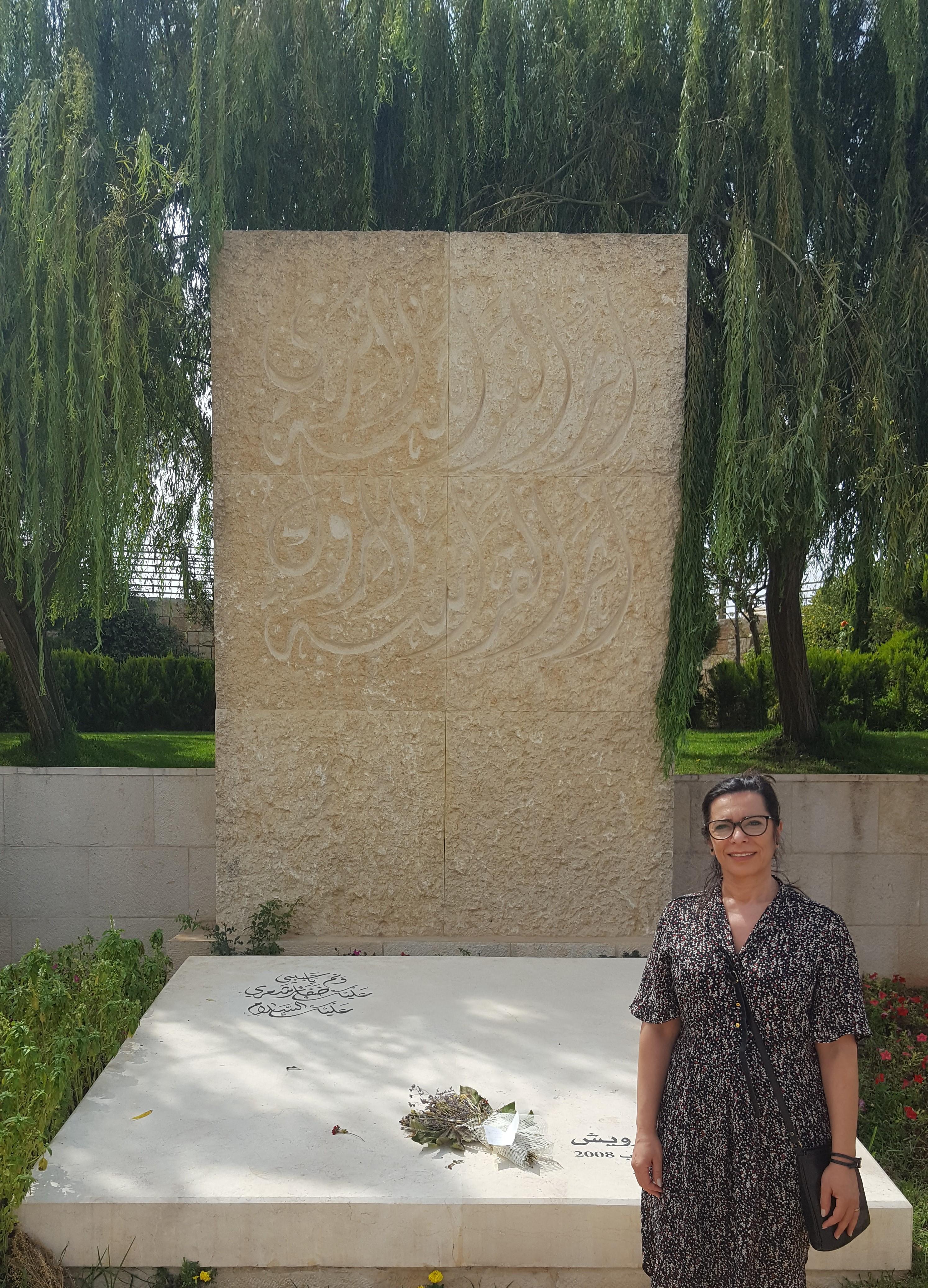 الكاتبة في متحف محمود درويش