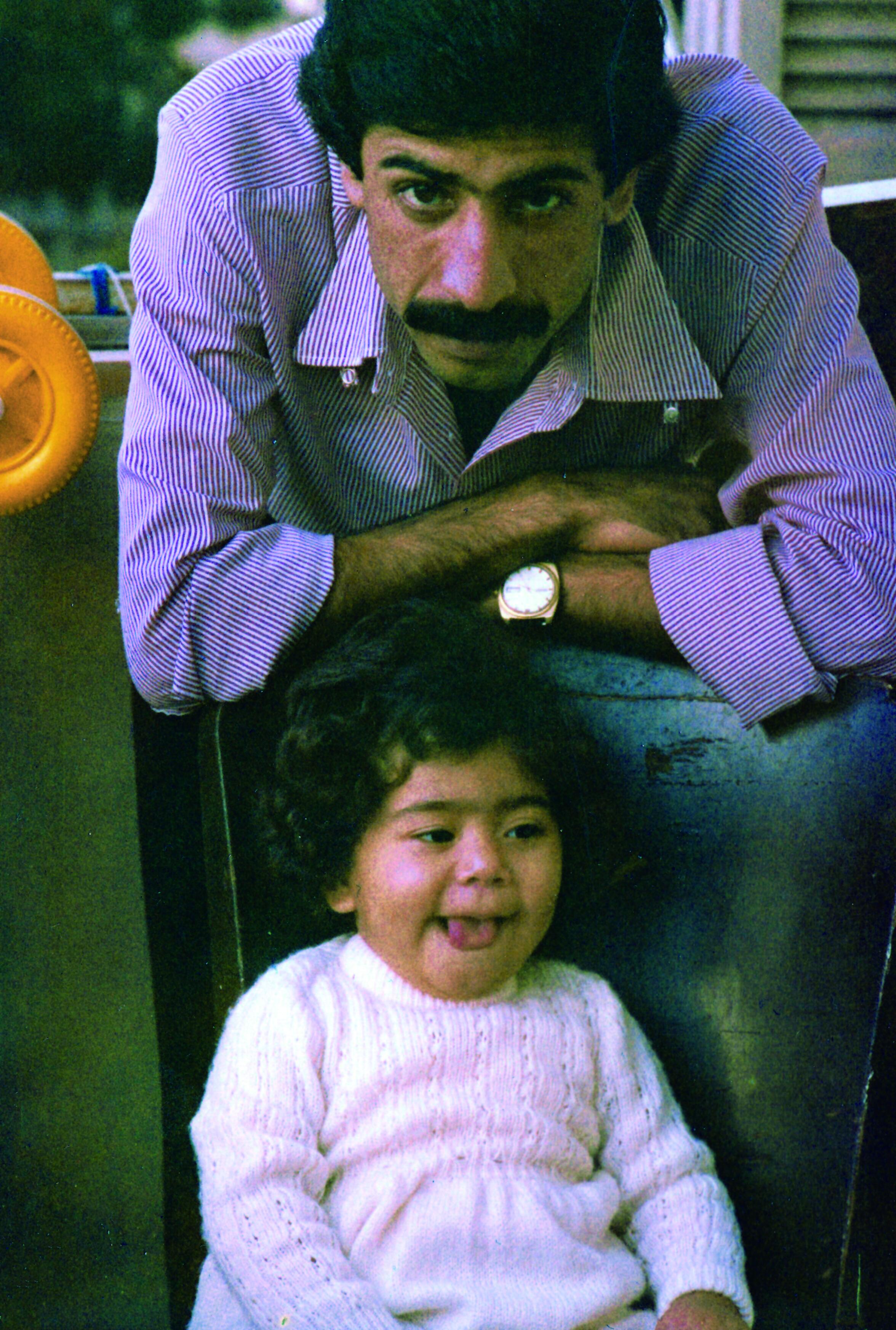 الشاعر وابنته يارا