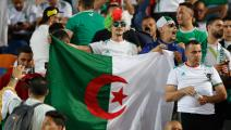 Algeria supporters cheer ahead of during the 2019 Africa Cup of Nations (CAN) Semi-final football match between Algeria and Nigeria at the Cairo International stadium in Cairo on July 14, 2019. (Photo by FADEL SENNA / AFP) (Photo credit should read FADEL SENNA/AFP via Getty Images)