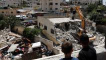 سياسة/الاحتلال يهدم بيت فلسطينيين/(أحمد غربلي/فرانس برس)