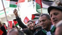 سياسة/تونسيون مع فلسطين/(شاذلي بنبراهيم/Getty)