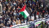 سياسة/تضامن مغربي مع فلسطين/(فاضل سنة/فرانس برس)