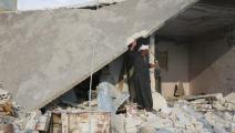 قصف النظام على إدلب/سورية-Getty