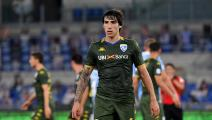 ROME, ITALY - JULY 29: Sandro Tonali of Brescia Calcio looks on during the Serie A match between SS Lazio and Brescia Calcio at Stadio Olimpico on July 29, 2020 in Rome, Italy. (Photo by MB Media/Getty Images)
