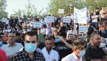 سياسة/احتجاجات السليمانية/(شوان محمد/فرانس برس)