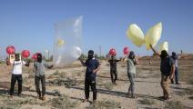 إطلاق بالونات حارقة/قطاع غزة-سعيد خطيب/فرانس برس