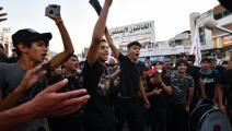 سياسة/احتجاجات الناصرية/(أسعد نيازى/فرانس برس)