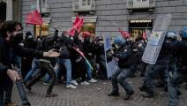 سياسة/احتجاجات نابولي ضد الإغلاق/( باولو مانزو/Getty)