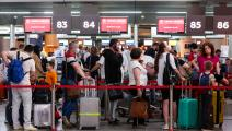 سياح روس في طريقهم إلى تركيا (Getty)
