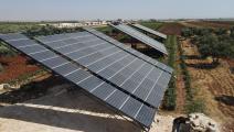 الطاقة الشمسية في سورية (فرانس برس)