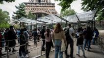 برج إيفل/السياحة في فرنسا (فرانس برس)