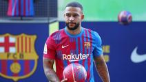 Getty-FC Barcelona Unveil New Signing Memphis Depay