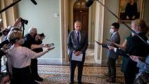 تشاك شومر زعيم الأغلبية الديمقراطية بمجلس الشيوخ الأميركي (Getty)
