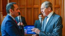 وزير الخارجية القطري ووزير الخارجية الروسي