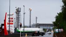 شاحنات الوقود في بريطانيا (فرانس برس)