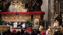 البابا بقداس الميلاد في الفاتيكان (getty)