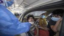 EGYPT-HEALTH-VIRUS Egyptians get tested for Covid-19 at a drive-through coronavirus-testing centre at the Ain Shams University in Cairo on June 29, 2020. - Egypt has so far registered 65,188 COVID-19 cases including 2,789 fatalities. (Photo by Khaled DESOUKI / AFP) (Photo by KHALED DESOUKI/AFP via Getty Images)