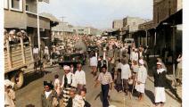 مهرجان وعرض عسكري وشعبي في تعز عام 1965 (أرشيف فهد الظرافي)