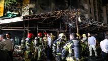 """وقع الانفجار في مركز """"سينا أطهر"""" الطبي (Getty)"""