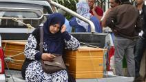 تبكي فقيدها بسبب غرق أحد قوارب الهجرة (سفيان حمداوي/ فرانس برس)