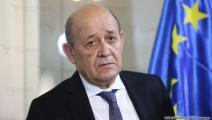لودريان في وزارة الخارجية اللبنانية(حسين بيضون/العربي الجديد)