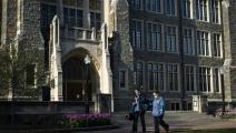 """في جامعة """"جورج تاون"""" بواشنطن العاصمة (كارولاين بريمان/ Getty)"""