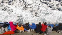 على سفينة إنقاذ في البحر المتوسط (بابلو غارسيا/ فرانس برس)