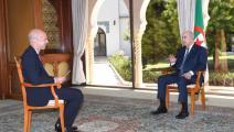 """الرئيس الجزائري في مقابلة على قناة """"فرانس 24"""""""