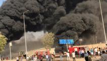 حريق مروع في مدينة العاشر من رمضان المصرية (فيسبوك)