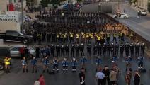حشود أمنية لمنع اعتصام المعلمين في الأردن (تويتر)