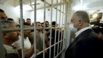 سياسة/الكاظمي بسجن مطار المثنى/(تويتر)