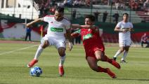 The player Balech abou Sofiane of CR Belouizdad (L) in action against player Bensayah Rida of JSM Béjaia (R), in the final match of Algeria Cup 2019 Mustapha Tchaker Blida stadium in Algeria on June 08, 2019 (Photo by Billal Bensalem/NurPhoto via Getty Images)