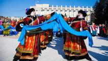 احتفال برأس السنة البوذية في ترانسبايكال الروسية