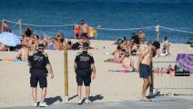 شاطئ في برشلونة
