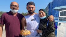 الاحتفال بذكرى مولد عبد الرحيم بربر أمام السجن (عائلة بربر)