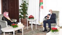 الرئيس الجزائري عبد المجيد تبون يلتقي بوزير الخارجية السعودي (فيسبوك)