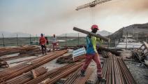 عمليات البناء في سد النهضة الأثيوبي