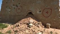 عناصر تتبع حزب الله تنقب عن الآثار في البوكمال (Getty)