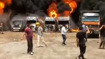 انفجار صهاريج في إيران-تويتر