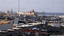 مرفأ بيروت بعد الانفجار-حسين بيضون