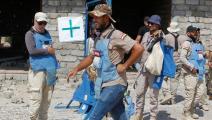 إزالة ألغام في مدينة بيجي بمحافظة صلاحالدين(صباح أرار/فرانس برس)