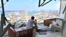 عادل كرم بعد انفجار بيروت (تويتر)
