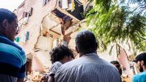 سقط هذا المبنى في عام 2016 (فايد الجزيري/ Getty)
