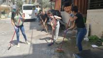 متطوعون ينظفون شوارع بيروت (فيسبوك)